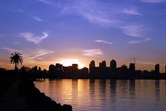 Sunrise over San Diego